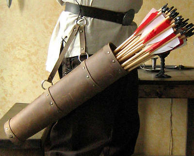 Medieval Celtic Viking Leather Arrow Quiver