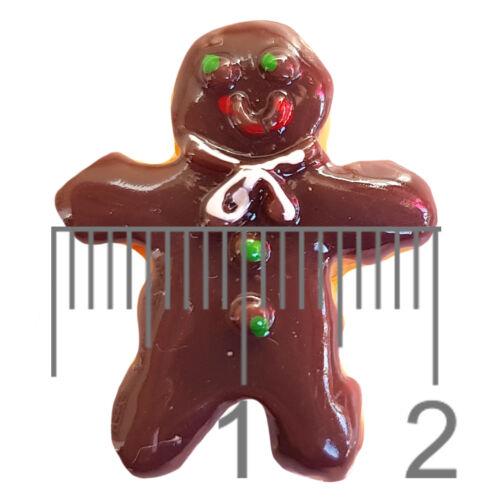 4pcs Iced Gingerbread Kawaii Resin Flatback Cabochon Embellishment Decoden Craft