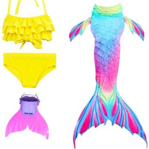 Swimmable Mermaid Tail bikini sets monofin Swimsuit Swimwear Girls cosplay Gift