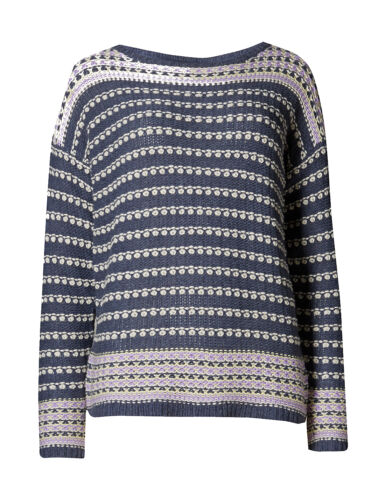 Marks /& Spencer Womens Loop Striped Round Neck Knitted Jumper New M/&S Pullover