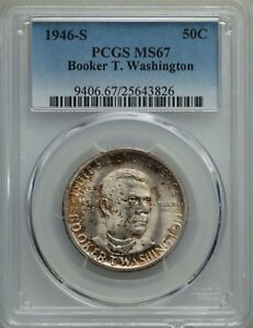 1946-S-50C-Booker-T-Washington-Comm-Silver-Half-Dollar-PCGS-GEM-MS67-25643826