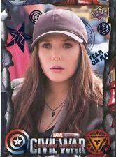 Captain America Civil War Blue Foil Parallel Base Card #54