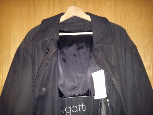 52 uomo coat da Trench Black Gr 3 In1 50 Multifunzione Long Bugatti Xl nzURpZR