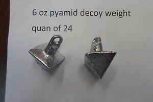 2 Douzaine 6 oz (environ 170.09 g) Pyramide duck goose Leurre Poids Premium-afficher le titre d`origine o6I5VcpE-07162533-240401401