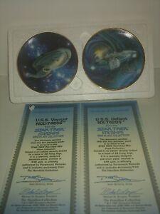 Lot Of 2 1997 Hamilton Star Trek Starships Porcelain Mini Plate set Price firm