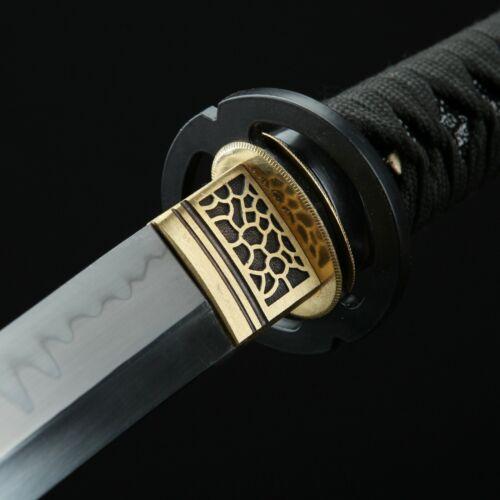 Granite Theme Hand Forged Carbon Steel Real Hamon Short Katana Real Tanto Swords