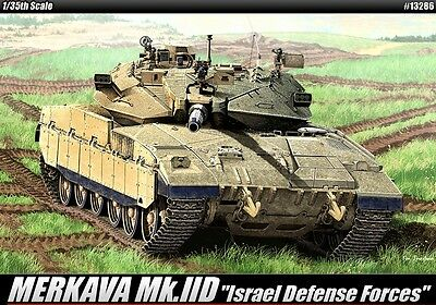Academy 1/35 Scale Military Plastic Model Kit Israel Merkava Mk. IID 13286 NIB