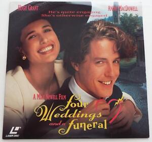 FOUR-WEDDINGS-AND-A-FUNERAL-Hugh-Grant-Andie-MacDowell-LASERDISC