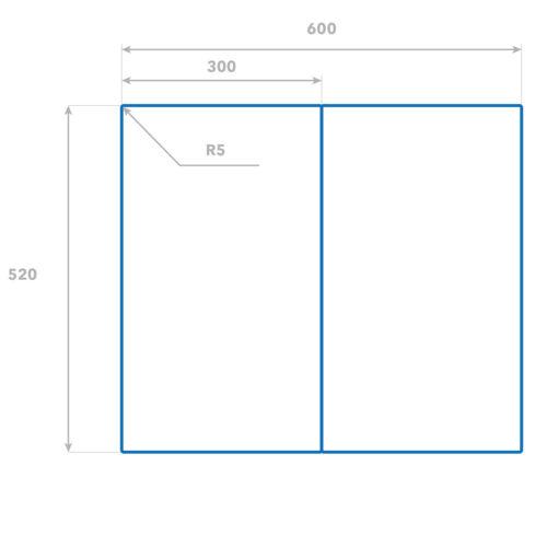 2x30x52 cm Herdabdeckplatten aus Glas Spritzschutz Frohe Weihnachten
