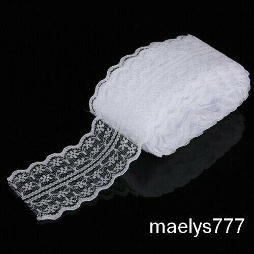 Dentelle Fine 45mm Galon Ruban Scrapbooking mercerie ruban garniture  lot 5M