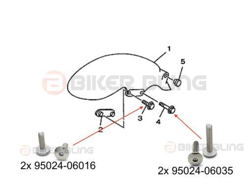 Yamaha TRX 850 1996-2000 screen fairing mudguard fender bolts /& rubber well nuts