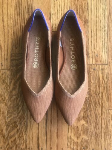 Rothy's Fawn/Brown Pointed Flats Zize 8