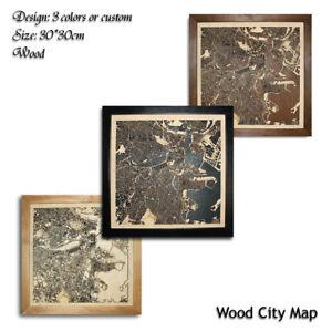 Wood-City-Map-Boston-USA-Decor-Picture-Town-Village-Laser-Cut-Wall-Art