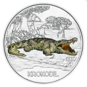 3-Euros-Commemorative-Autriche-2017-Colourful-Creatures-Krokodil-Crocodile