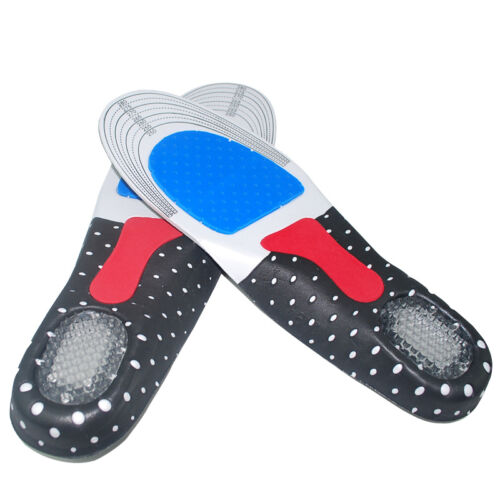 Unisex Sport Running Gel Insoles Insert Cushion Orthotic Arch Support Shoe Pad