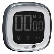 Masterclass Touch Screen Digital Electronic Count Up & Countdown Kitchen Timer