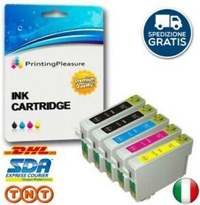Multipack-T1285-5-Cartucce-Compatibili-per-EPSON-SX125-SX130-SX235W-SX420W-SX425