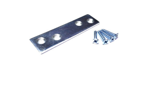 Zinc, Set of 10 screw included Mending Plates 3/'/'-Inch x 3//4/'/'-Inch