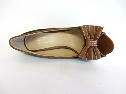 R8A Spot on Ladies Peep Toe Court Shoes F1R907