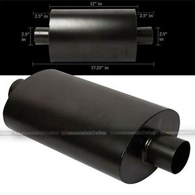 """For Explorer Tipless Weld On Muffler Exhaust Canister 2.5/"""" In//Outlet"""