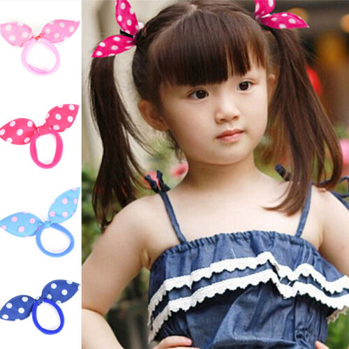 Women's Accessories 20XGirl Rabbit Bunny Ears Dotted Hair Ties Scrunchie Ponytail Holder ...