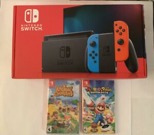 NEW Nintendo Switch Console with Red/blu Joy‑Con + Animal ...