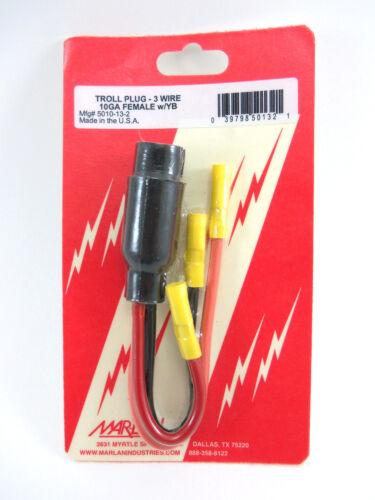 3 Wire 10 Gauge Female Mar-Lan 5010-13-2 Troll Plug Trolling Motor