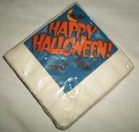 Hallmark Beverage Napkins Happy Halloween Bats Spiderweb Moon Spooky Party