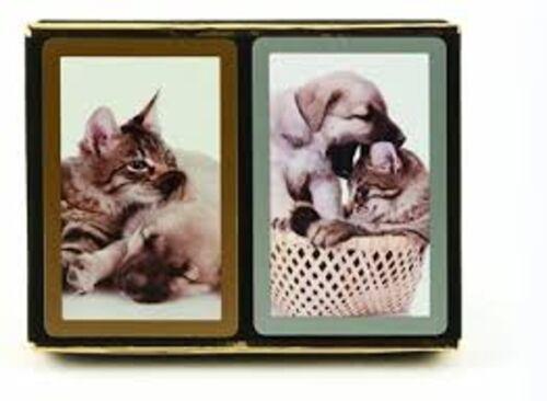 2 Deck Set Congress Cat and Dog Jumbo Large Index Playing Cards Bridge New