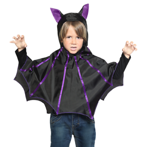 Marrone lungo Mantello con Cappuccio Accessorio Costume di Halloween Bambini