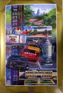 1996 Brickyard 400 Race Poster Indianapolis Brickyard Dale Earnhardt Chevrolet