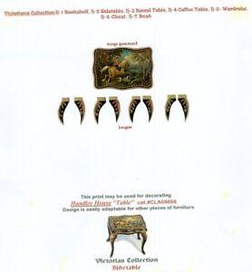 1-12-scale-Natasha-Beshenkovsky-039-s-Mini-Decoupage-Print-Victorian-Side-table