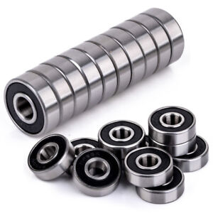 10pcs-8x22x7mm-Rubber-Sealed-608-2RS-Miniature-Ball-Bearings-Deep-Groove-Tool