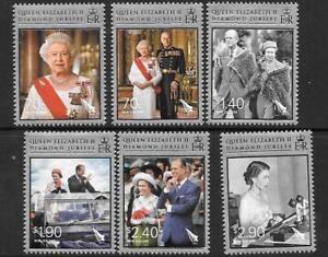 100% De Qualité New Zealand Sg3356/61 2012 Diamond Jubilee Neuf Sans Charnière-afficher Le Titre D'origine