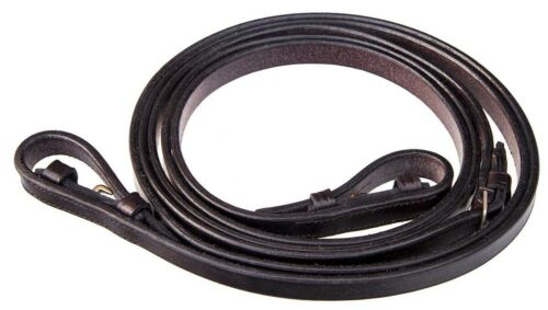 """48/"""" or 54/"""" long Black or Brown,1//2/"""" or 5//8/"""" width EcoRider Plain Leather Reins"""
