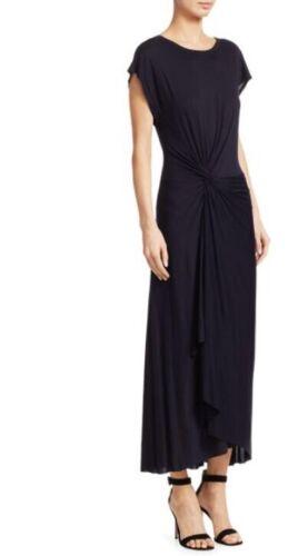 A.l.c. Black Midi Dress Knot Detail Size XS Cap Sl