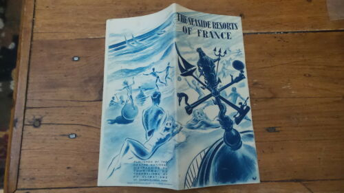 1940's50'S Vintage Travel Brochure & Map SEASIDE RESORTS OF FRANCE