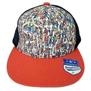 f15488f6896 Where s Waldo Trucker Hat Mesh Back Adult Adjustable Snapback ...