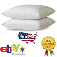 2 Serta Sleeper Queen Size Bed Pillows Soft Cotton Cover -