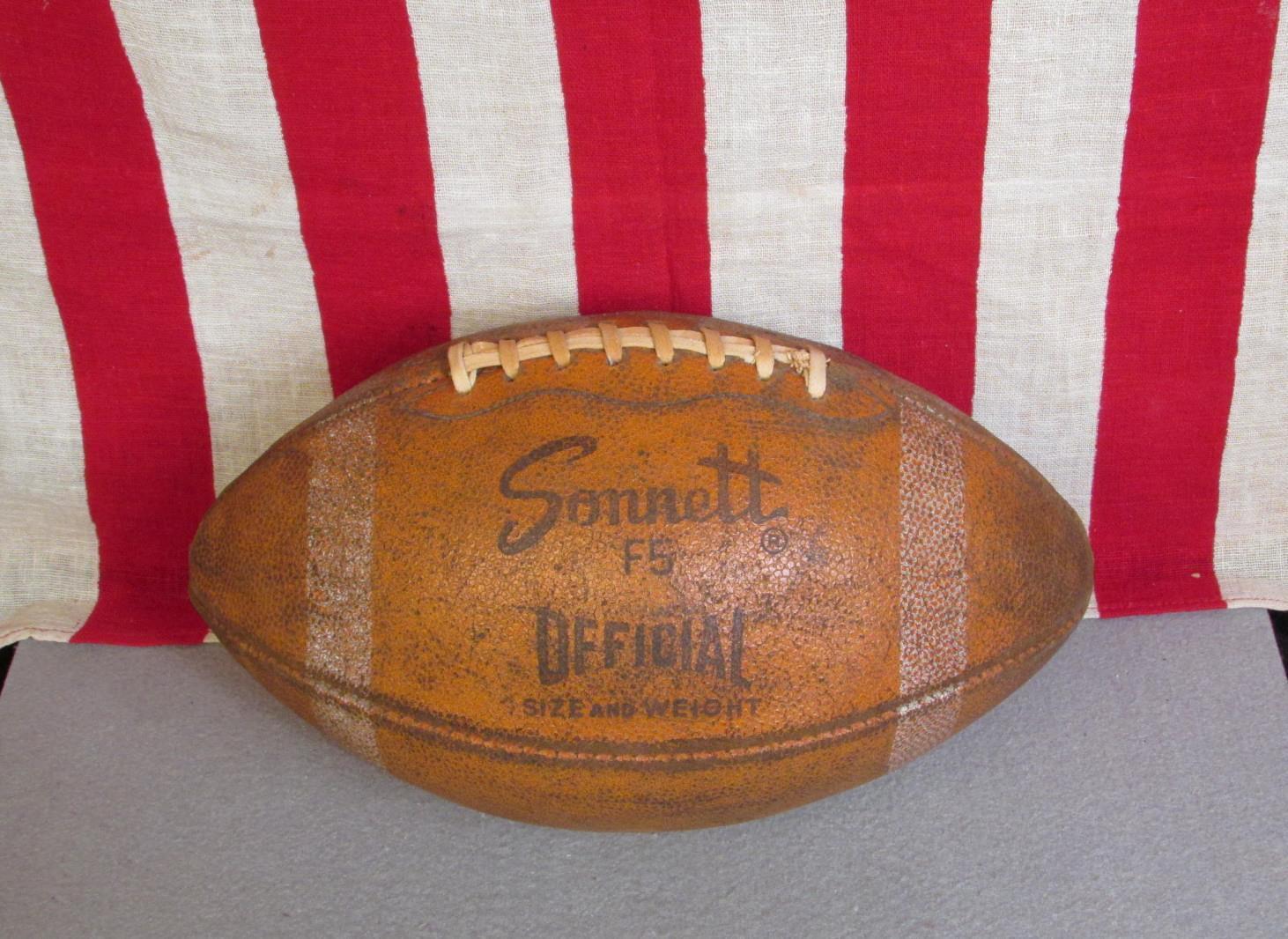 Vintage Laces Sonnett Official NFL Pelle Football w/ Laces Vintage Y.A.Tittle Model F5 Nice! 765de3