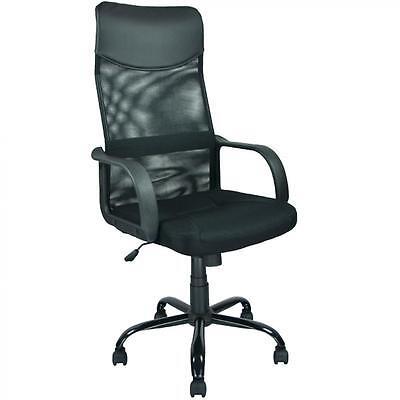 New Black Modern Fabric Mesh High Back Office Task Chair Computer Desk Seat O25