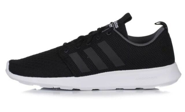 5e68f52d6b65 Adidas Neo Cloudfoam Swift Racer Men s Size 10.5 Running Shoes Black DB0679  ...