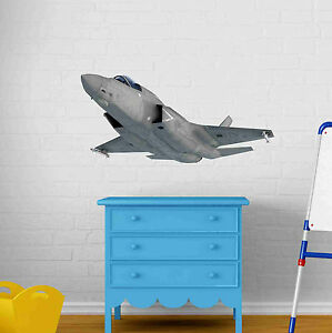 F-35-Fighter-Jet-Wall-Decal-Wall-Sticker-Home-Decor-Wall-Mural