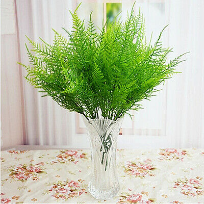 Plastic 7 Stems Artificial Asparagus Fern Plant Single Beam Flower Decor