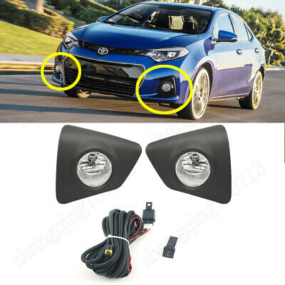 Clear 11-13 Corolla Fog Light w//Wiring Kit and Wiring Instructions