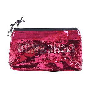 Victoria-039-s-Secret-Makeup-Bag-Bombshell-Sequins-Clutch-Handbag-Case-New-Vs-Nwt