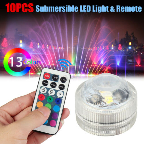 Bright Flameless Waterproof LED Tea Lights Candles Submersible Multicolour