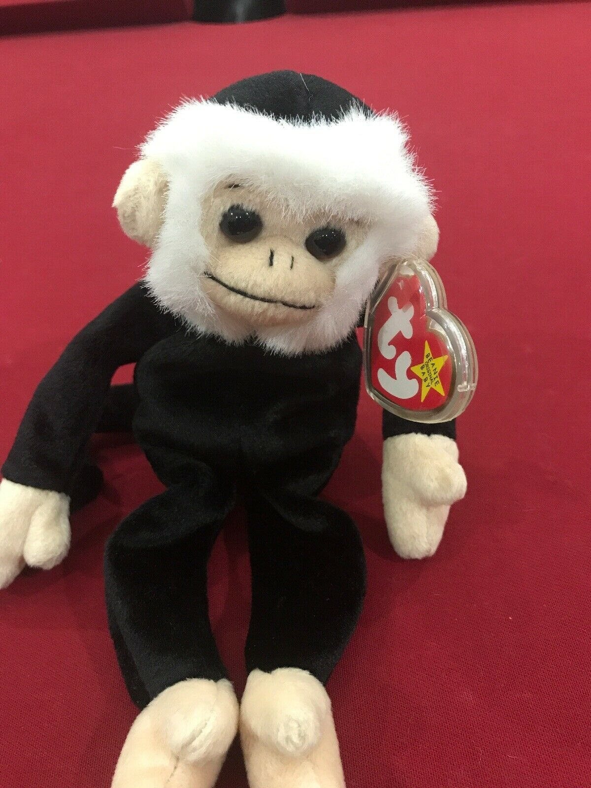 Mooch, Spider Monkey 98 99 Ty Beanie Baby rare retired with errors