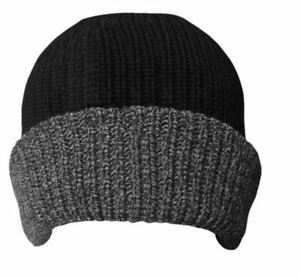 Image is loading Thermal-thinsulate-hat-fleece-lined-beanie 269108dd1da