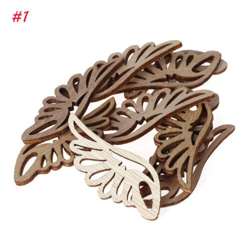 DIY Crafts Pendant Angel wings Ornament Embellishment Natural Wood Scrapbooking
